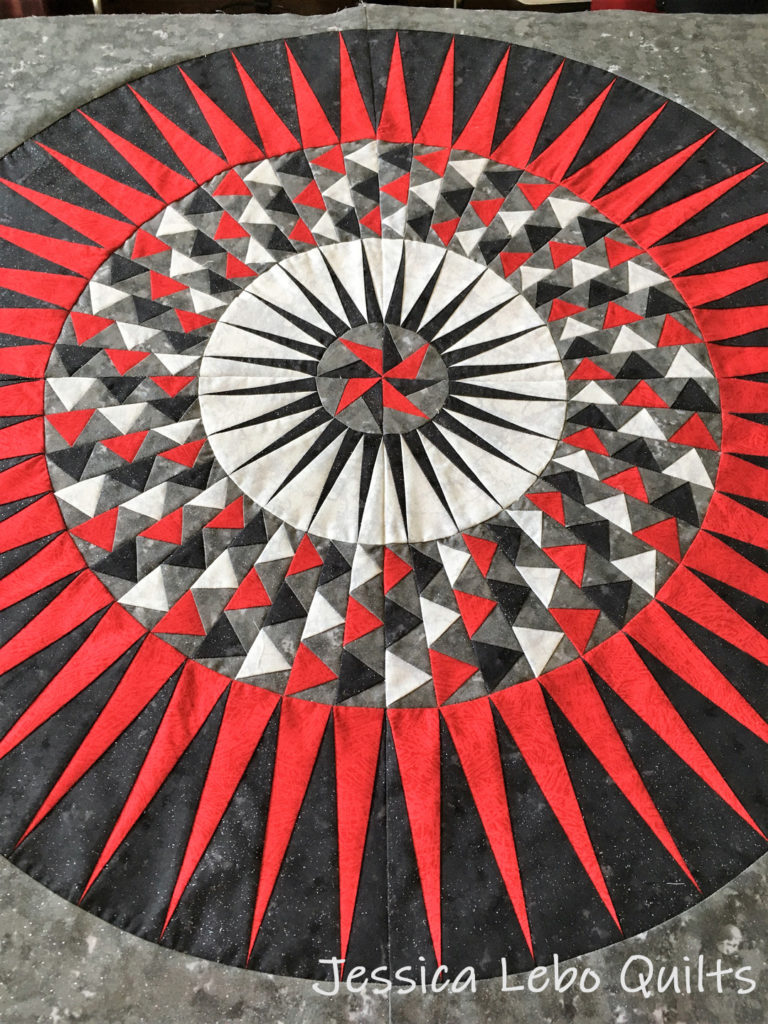 red white black foundation paper piecing quilt pattern