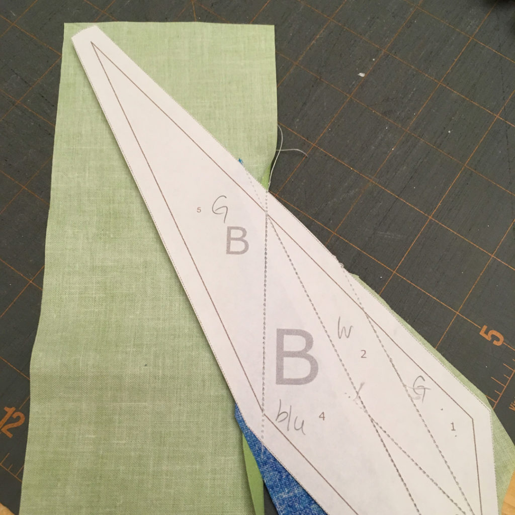 how to measure fabric foundation paper piece quilt