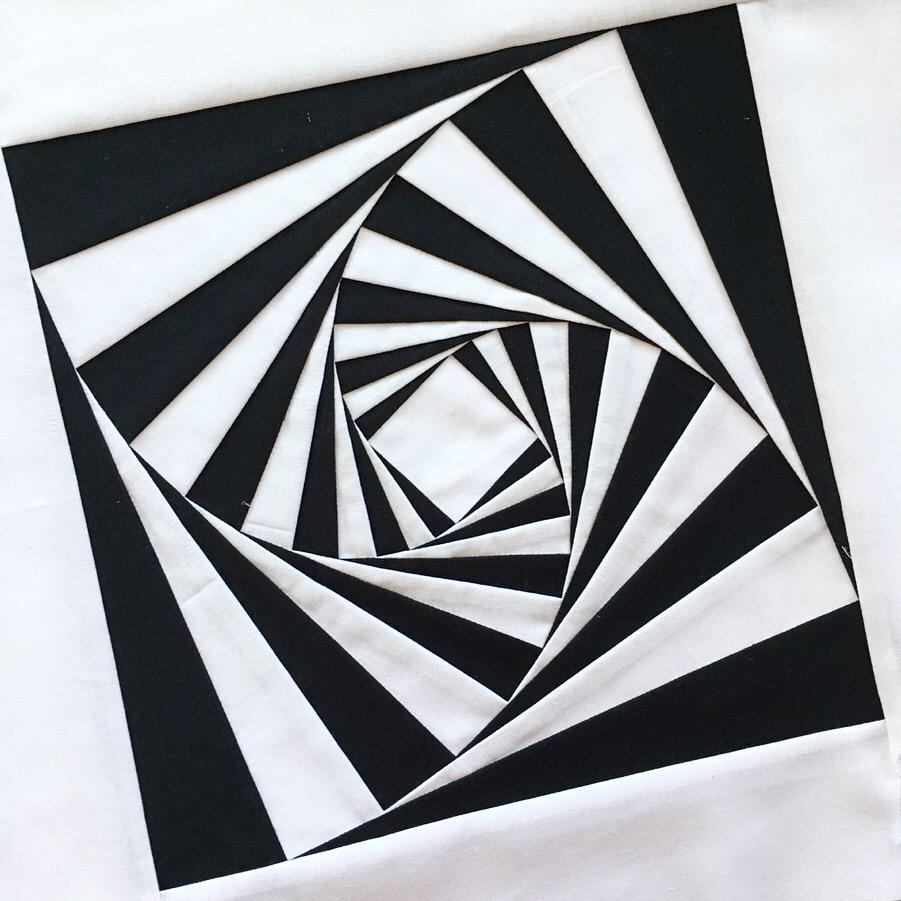 foundation pieced twist quilt