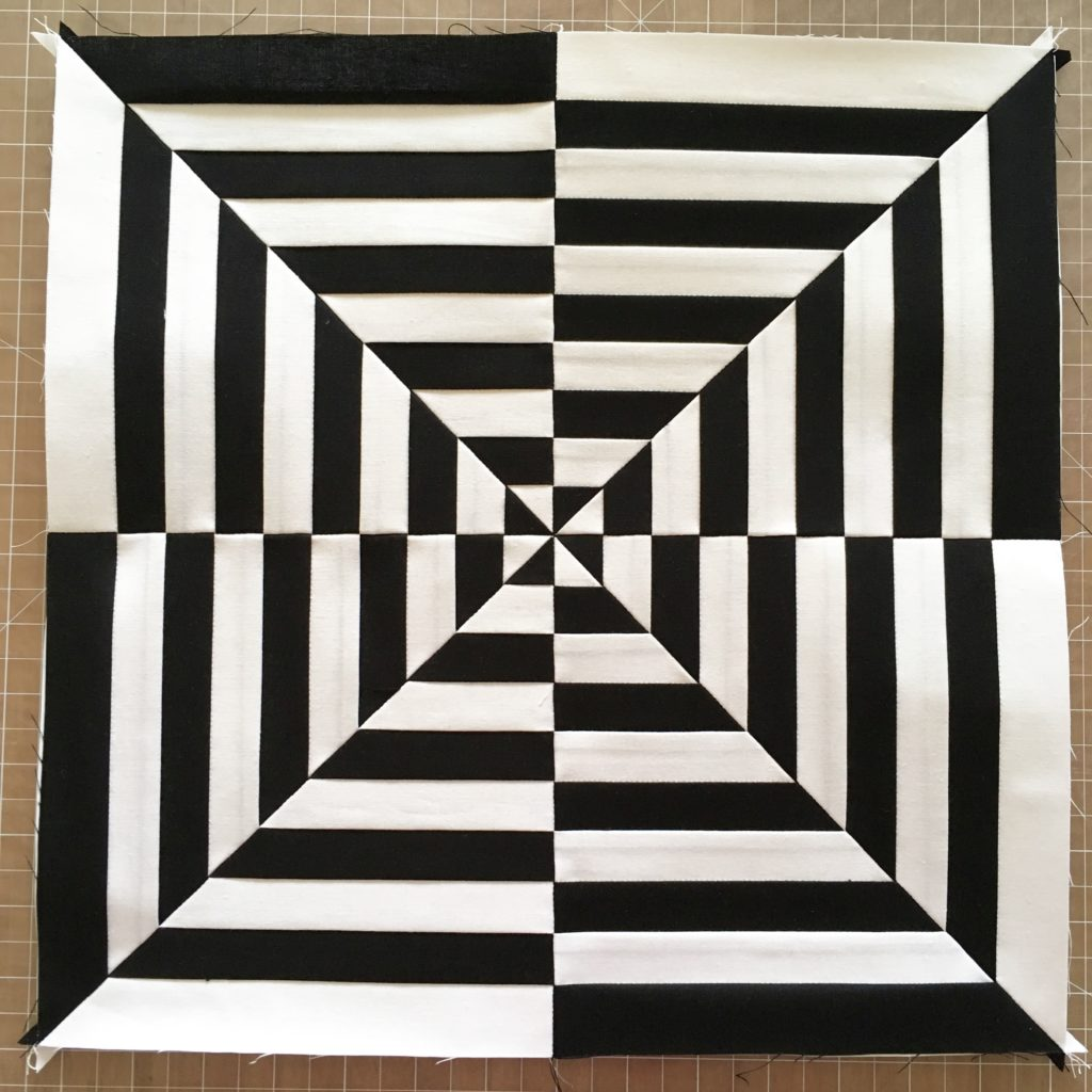 black and white illusion quilt pattern